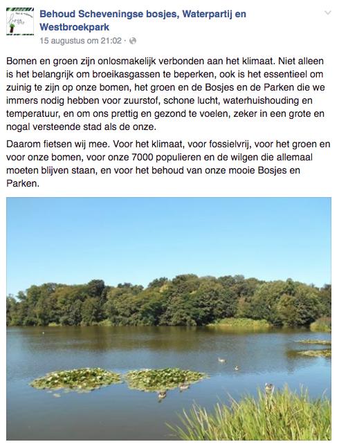 Behoud Scheveningse Bosjes, Westboekpark en Waterpartij